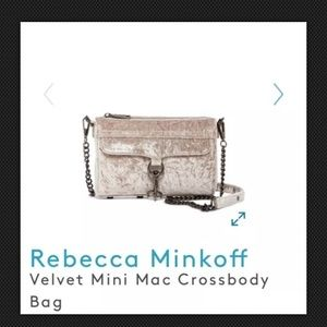 Rebecca Minkoff Velvet Mini MacBag New $175 Putty